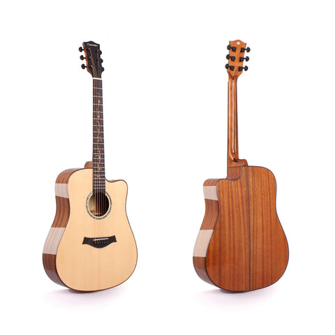 FULL SIZE SOLID WOOD ACOUSTIC GUITAR