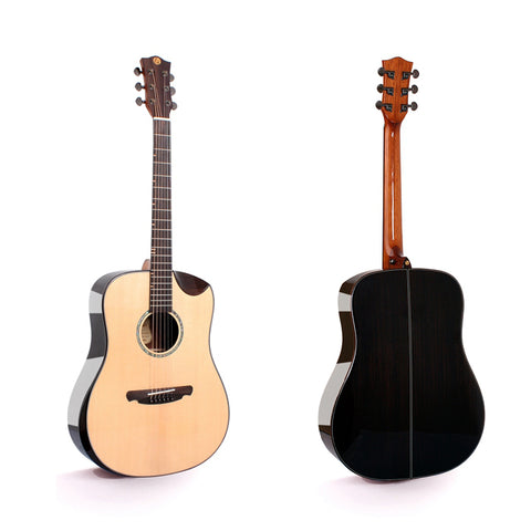 FULL SIZE SOLID WOOD ACOUSTIC GUITAR WITH BUILT IN PICK UP