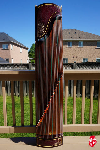 EAST INDIAN ROSEWOOD GUZHENG-- 'FLOWERING DREAM'
