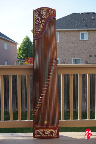AFRICAN PURPLE SANDALWOOD GUZHENG -- 'DUO CRANE'