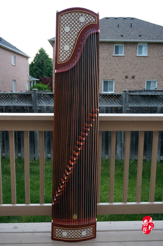 BUBINGA WOOD GUZHENG-- 'BANANA PANEL NIGHT RAIN'