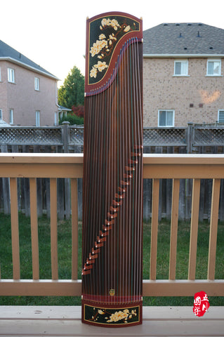 BUBINGA WOOD GUZHENG-- 'MAGNOLIA LOOKING FOR SPRING'