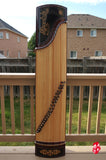 FULL PIECE PAULOWNIA WOOD GUZHENG -- 'FLOWER PATTERN'