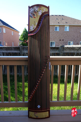 AFRICAN PURPLE SANDALWOOD GUZHENG -- 'THE WINTER PLUM SHOWS BEAUTY'