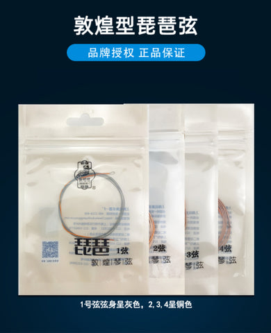 Dunhuang Professional Wire Rope Pipa Strings Set (1-4 strings) -- 敦煌钢绳專業琵琶琴弦套裝(1-4)