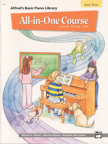 Alfred's Basic All-in-One Course, Bk 3: Lesson * Theory * Solo