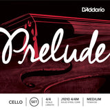D'Addario Prelude Cello String Set, 4/4 Scale, Medium Tension   -- 達達里奧美國產大提琴弦(4/4)