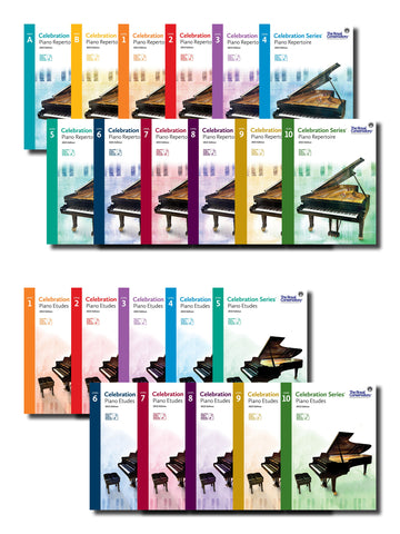 Complete 22-Book Celebration Series® Repertoire and Etudes Set