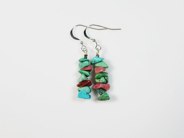 Turquoise Stack Earrings - Lady Likes Jewelry - 1