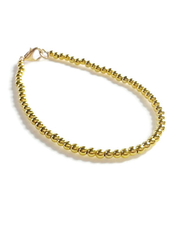 Plated Gold Friendship Bracelet, Beaded Bracelet
