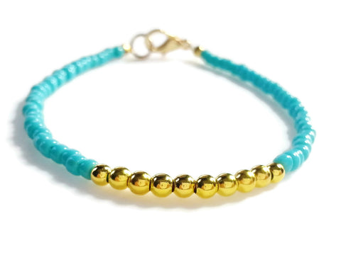 Aqua Blue Friendship Bracelet