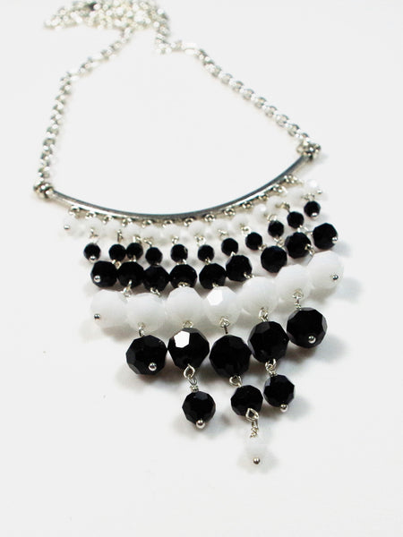 Black and White Statement Necklace - Lady Likes Jewelry - 1