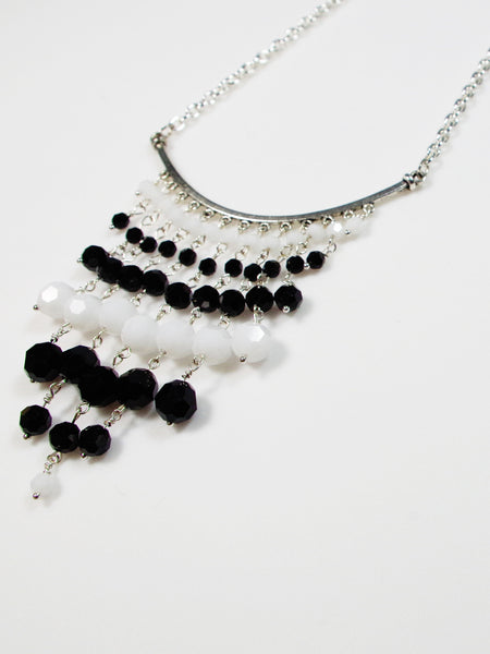 Black and White Statement Necklace - Lady Likes Jewelry - 2