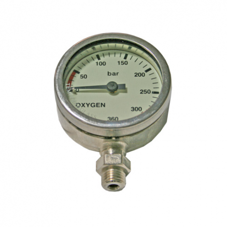 DIRZone 52mm 270 Oxygen Chrome Plated Pressure Gauge