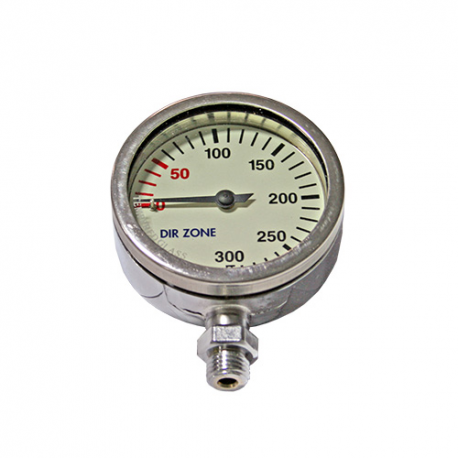 DIRZone 52mm 200 Bar Chrome Pressure Gauge