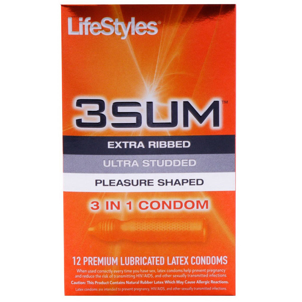 3 Sum Latex 12 Pack by Lifestyles