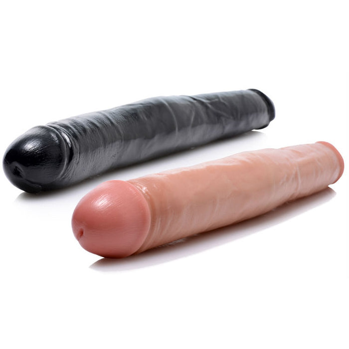 "Double Dong Dildo 17.5"" by Sexflesh - His & Hers"