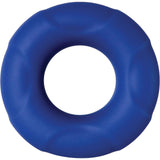 Adam and Eve Big Man Silicone Cock Ring - Blue