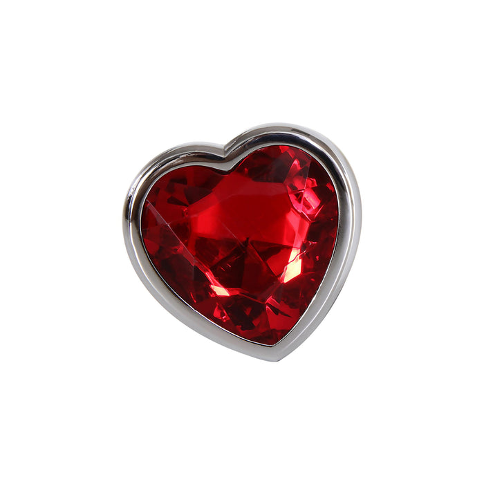 Small Red Heart Gem Anal Plug