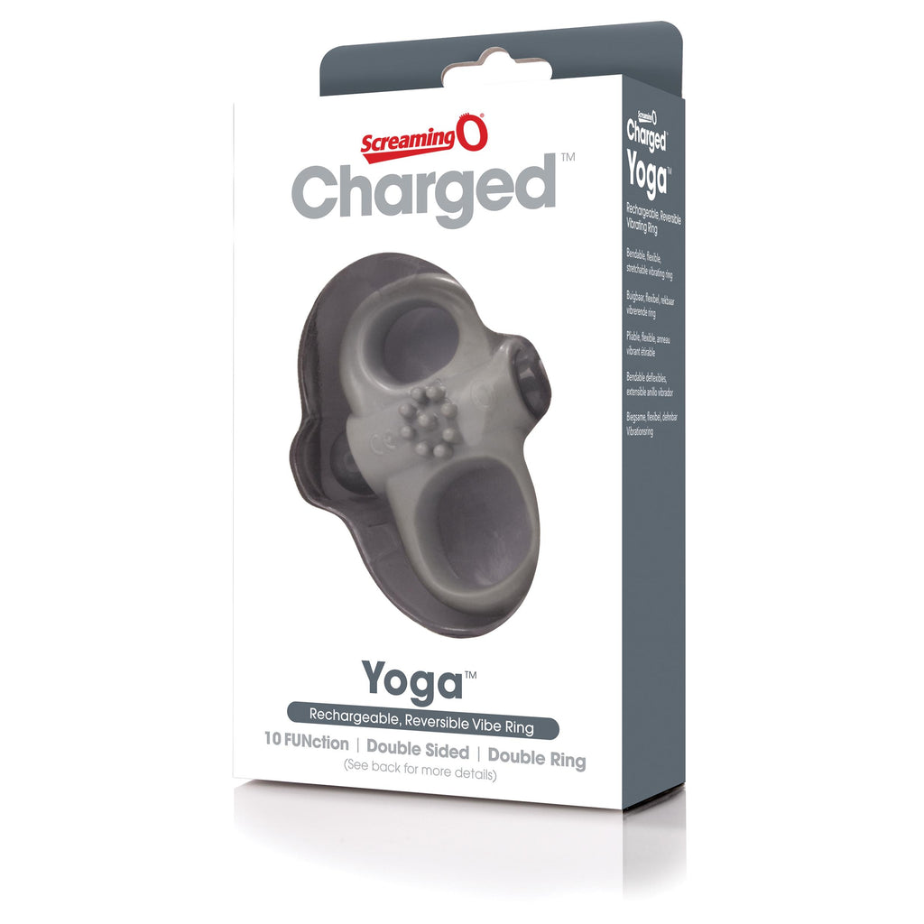 Charged Yoga Rechargeable Vibe Ring - Grey