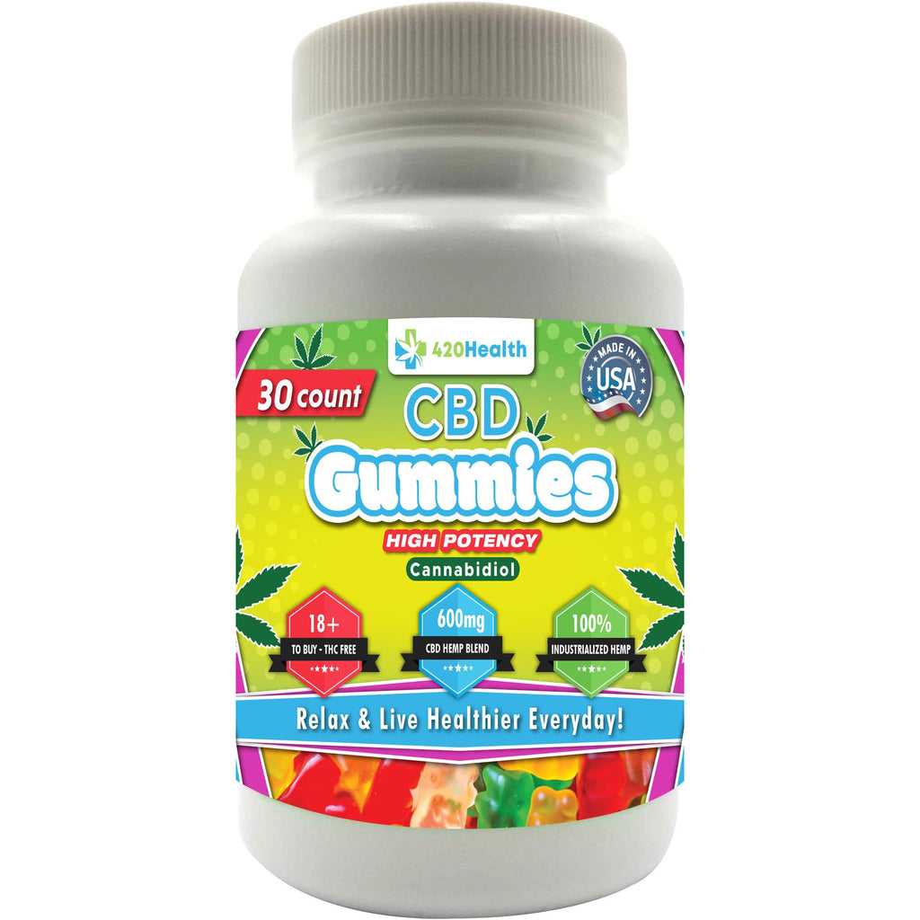 420 Health Hemp Gummies- 30ct Bottle 600mg 20mg