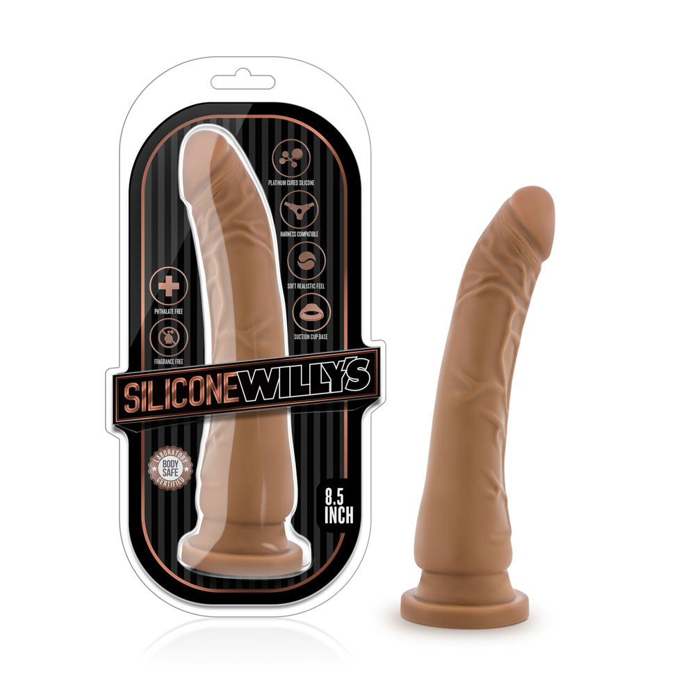 Silicone Willy's 8.5 Inch Silicone Dildo - Mocha