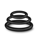 Performance - Vs4 Pure Premium Silicone Cockring Set - Black