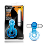 Stay Hard 10 Function Vibrating Tongue Ring - Blue