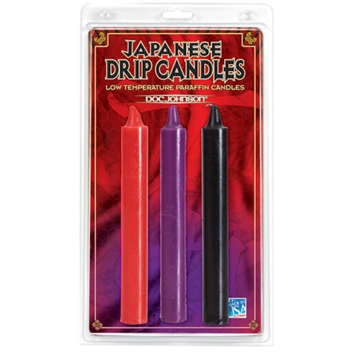 Japanese Drip Candles Set of 3 - Assorted Colors