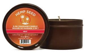 Hemp Seed 3 in 1 Massage Candle  - Hot Spiced Yum 6oz