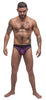 Airotic Mesh Enhancer Thong - Purple - S-m