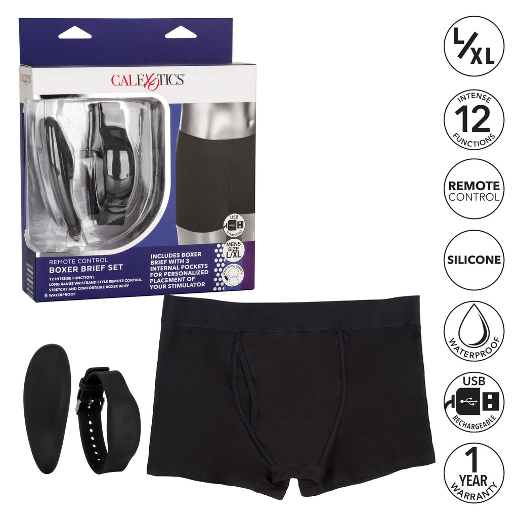 Remote Control Boxer Brief Set - L-xl