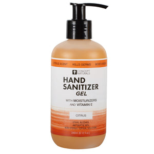 Concept Naturals Hand Sanitizer Gel - Citrus -  8.12 Fl. Oz.