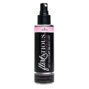 Flirtatious Pheromone Infused Body Mist - Vanilla, Sugar, & Sweet Pea - 4.2 fl.oz - 125 ml