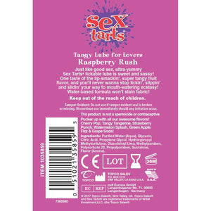 Sex Tarts - Raspberry Rush - 2 Fl. Oz. Tube