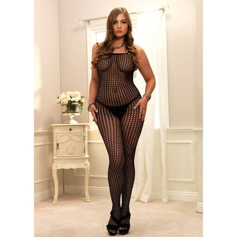 Quarter Crochet Net Bodystocking by Rene Rofe