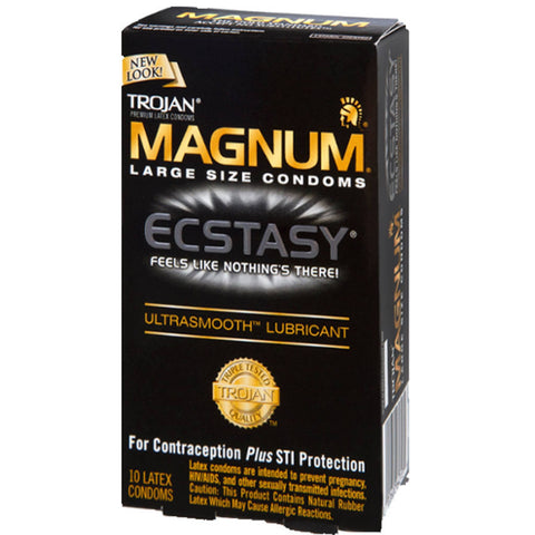 Magnum Ecstasy Ultrasmooth 10 Pack by Trojan
