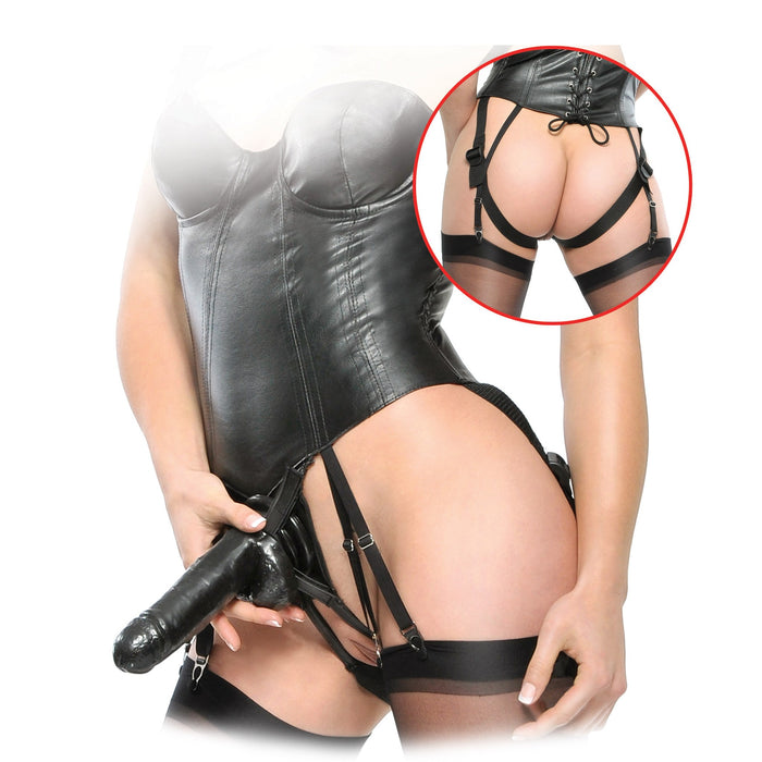 Fetish Fantasy Corset Strap On With Dildo Set - His & Hers