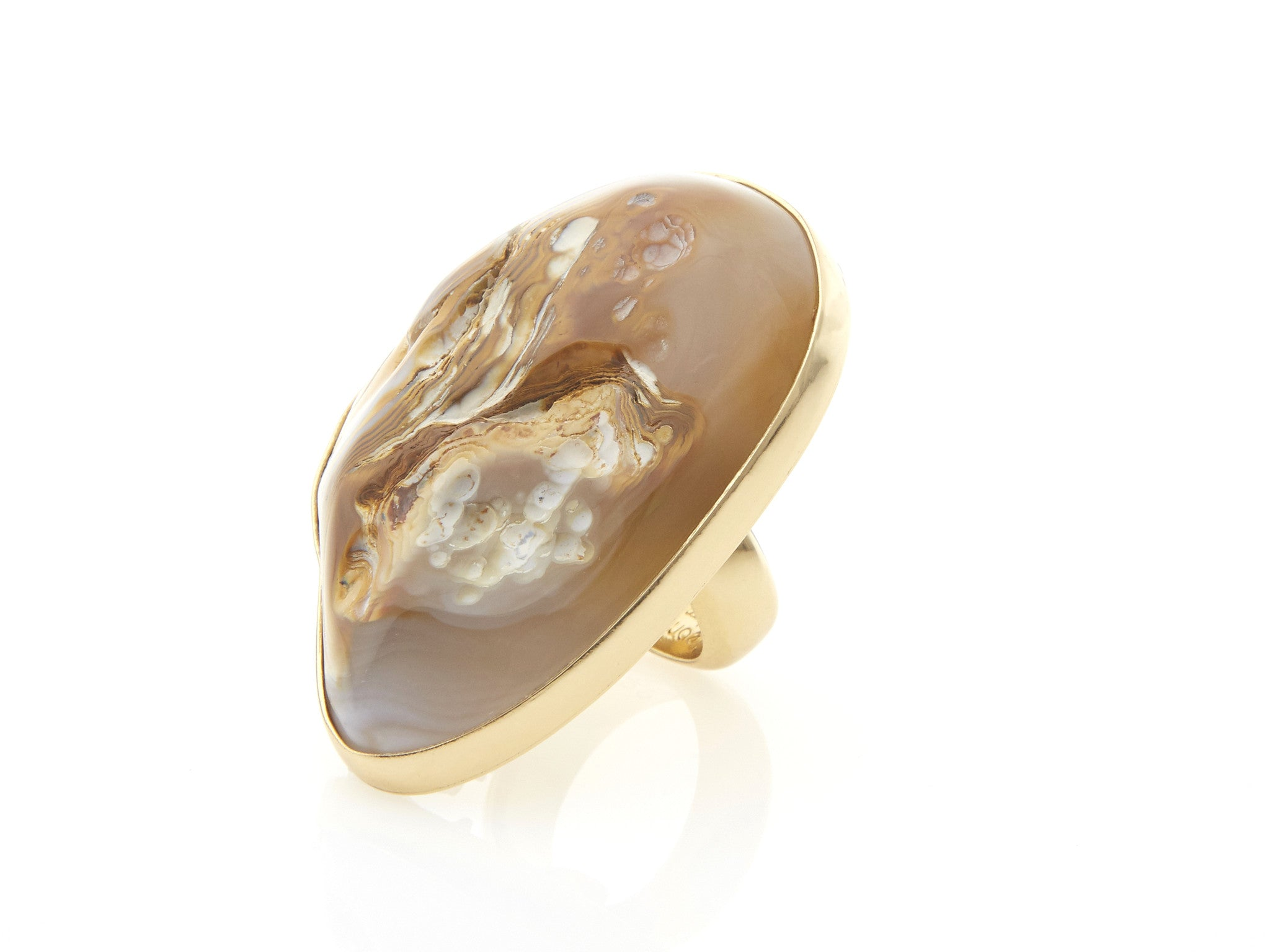 Spotted Agate Ring