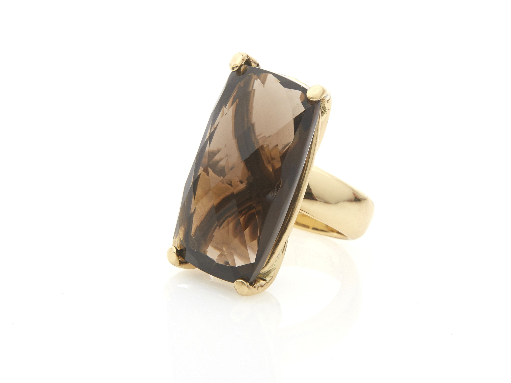 Italian Smokey Quartz Prong Set Ring