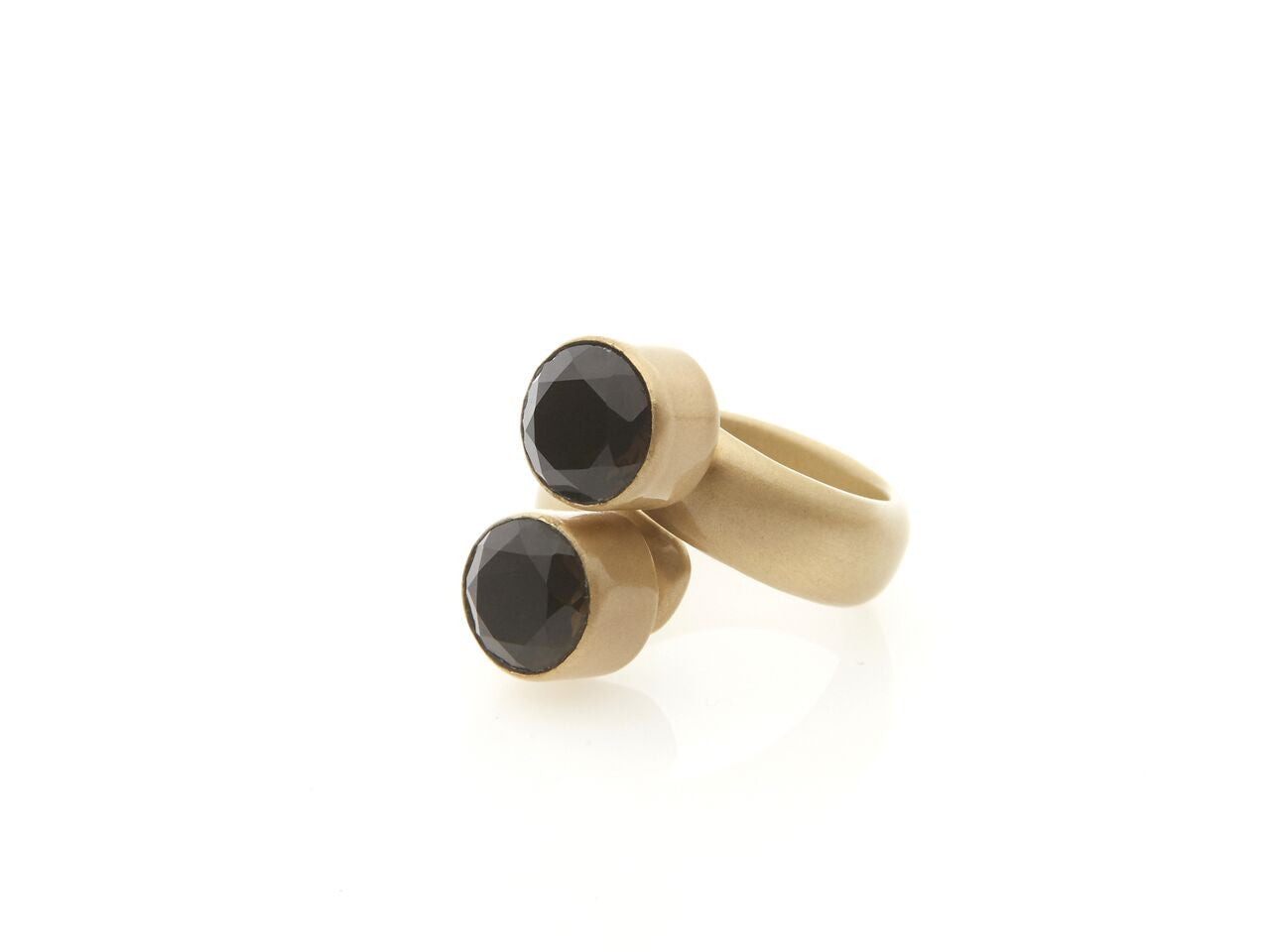 Italian Smokey Quartz Bypass Ring