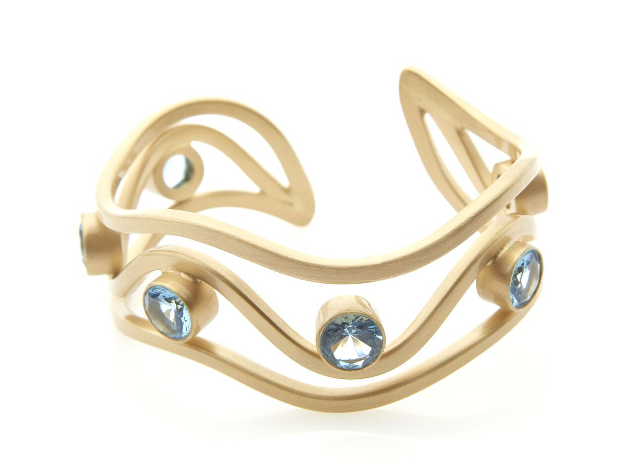 London Blue Topaz Three Waves Cuff