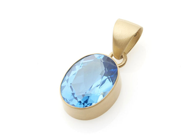 Oval London Blue Topaz Pendant