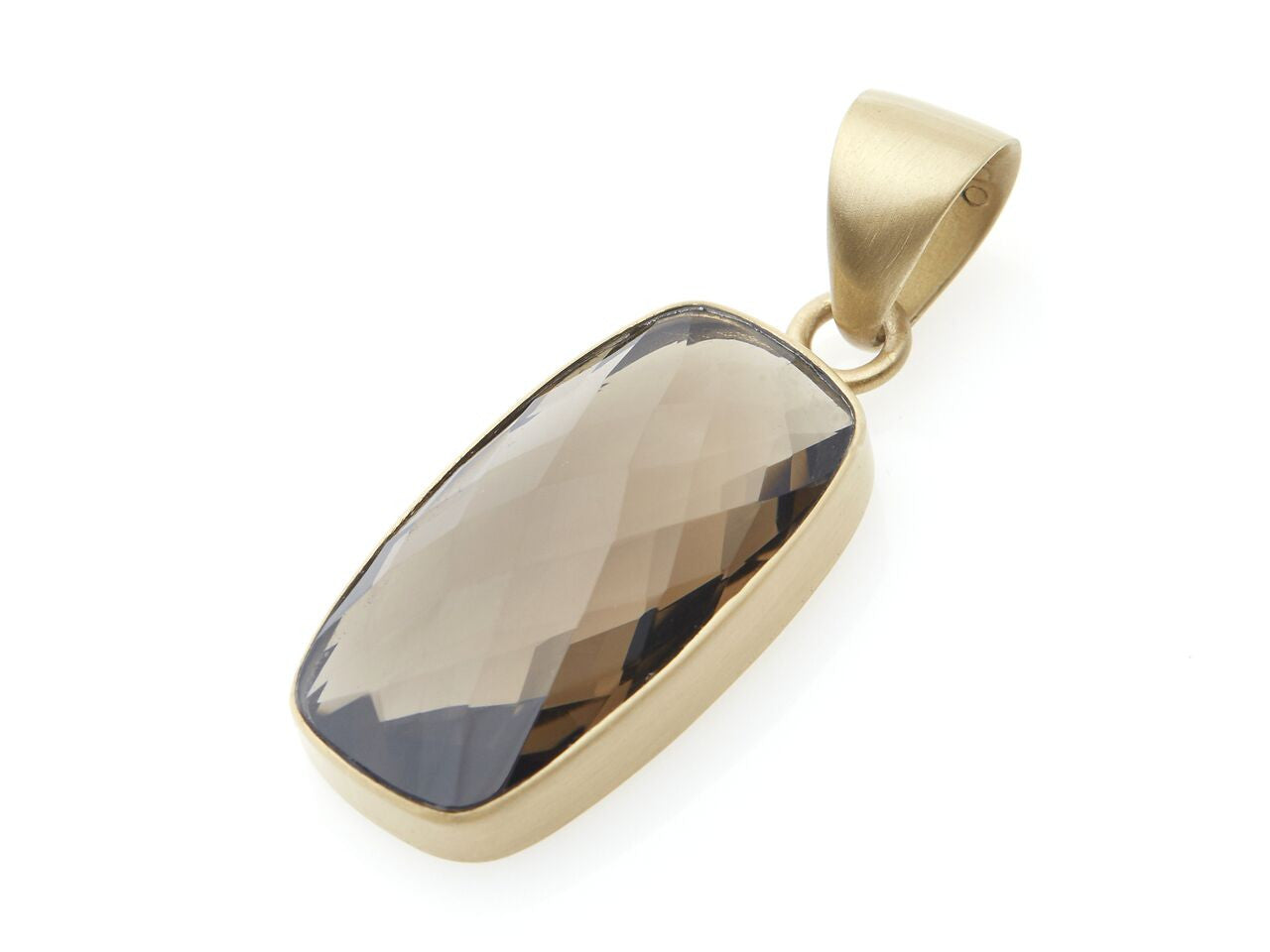 Rectangular Italian Smokey Quartz Pendant