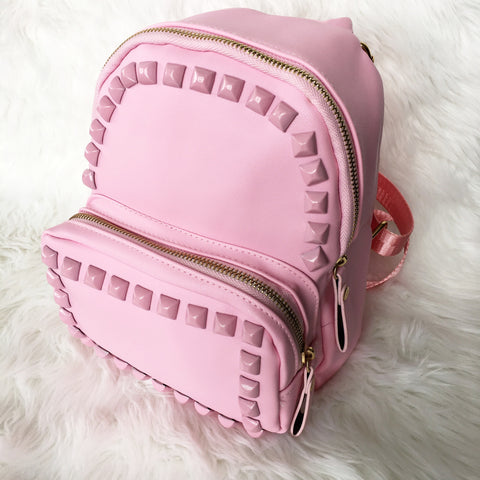 Stud Backpack Pink