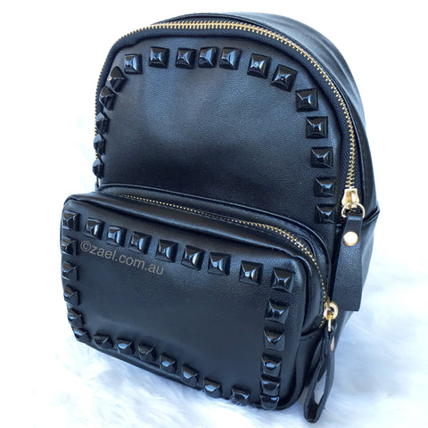 Stud Backpack Black