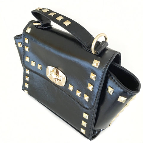 Stud Handbag Black