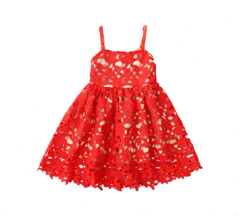 SIENA Lace Dress Red