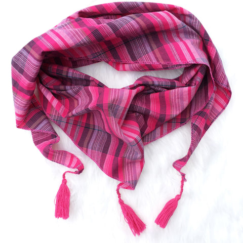 Scarf Pink Check