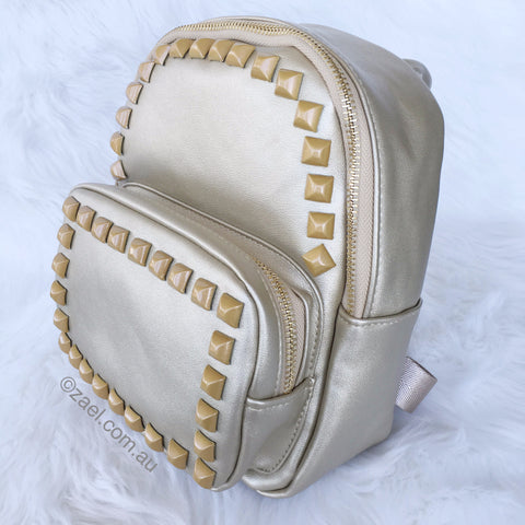 Stud Backpack Gold